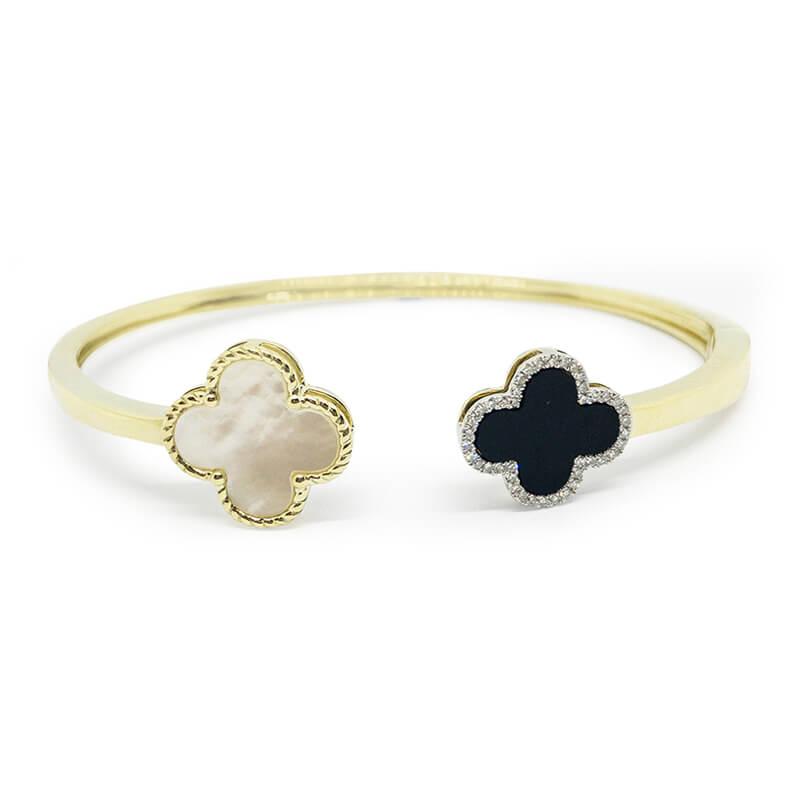 Clover Cuff Bracelet