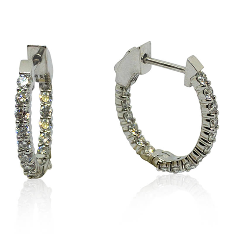.96ct. Inside/Outside Hoops