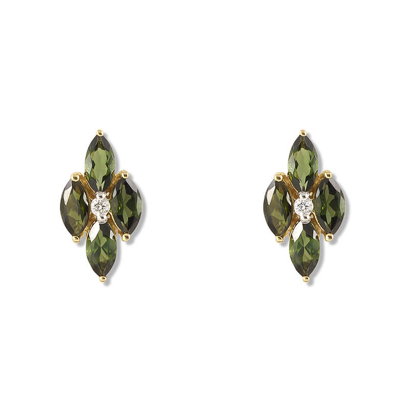 Palva Green Tourmaline Earrings