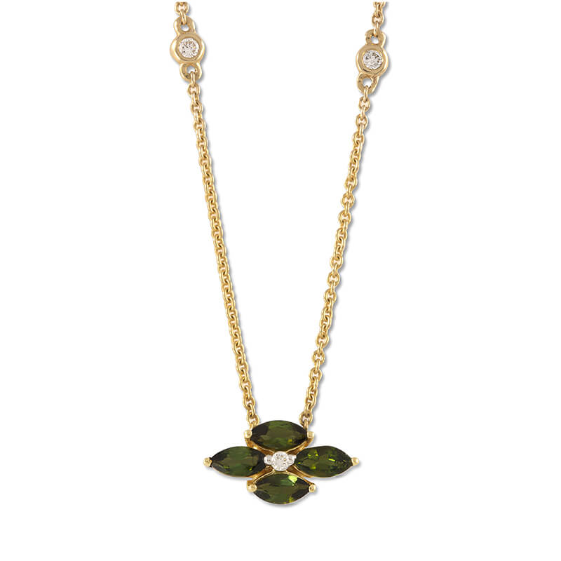 Palva Green Tourmaline Necklace