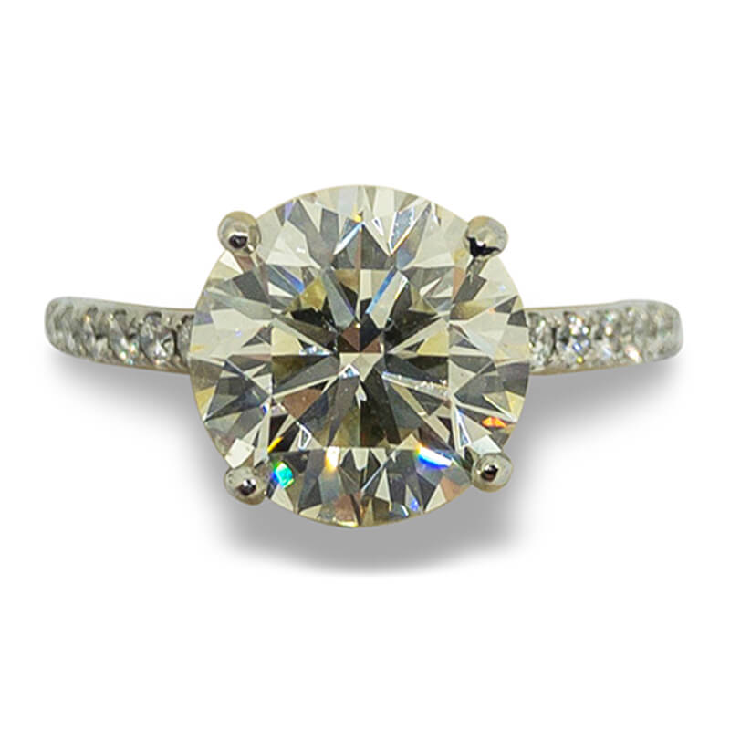 3.08ct. Solitaire Ring