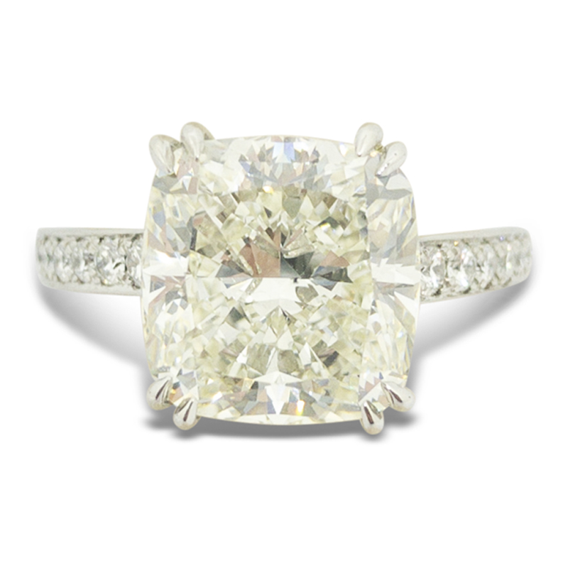 5.19ct. Cushion Cut Engagement Ring