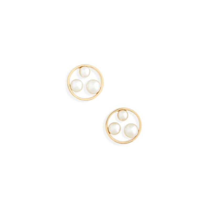 Japan Circle Stud Earrings