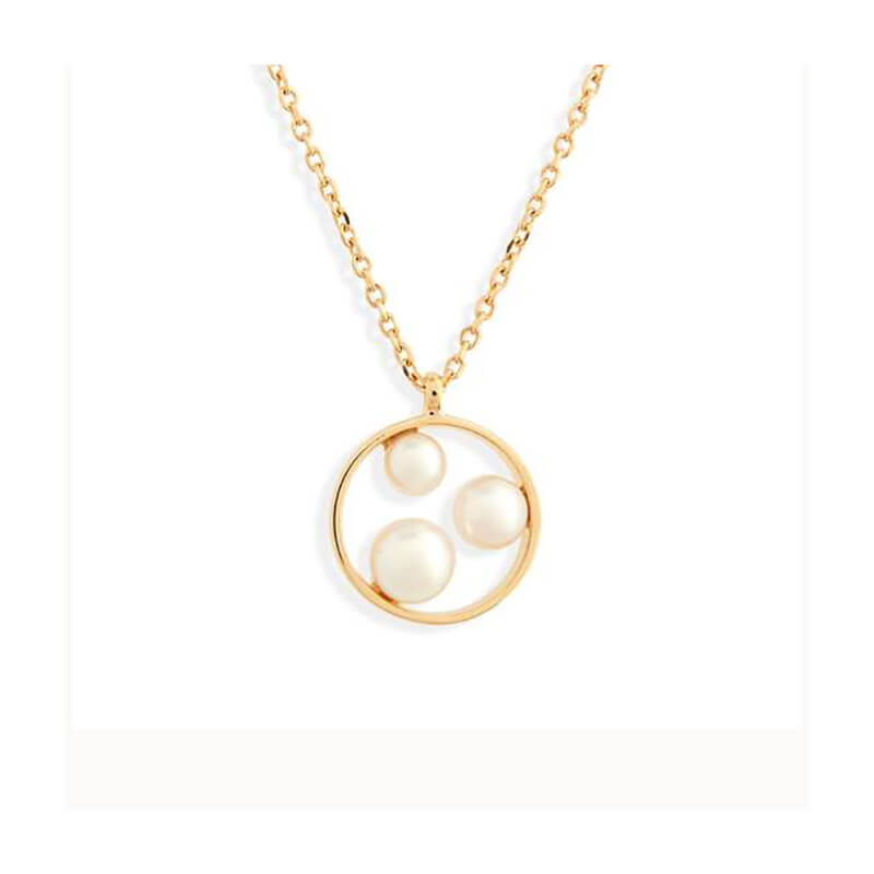 Japan Circle Pearl Pendant