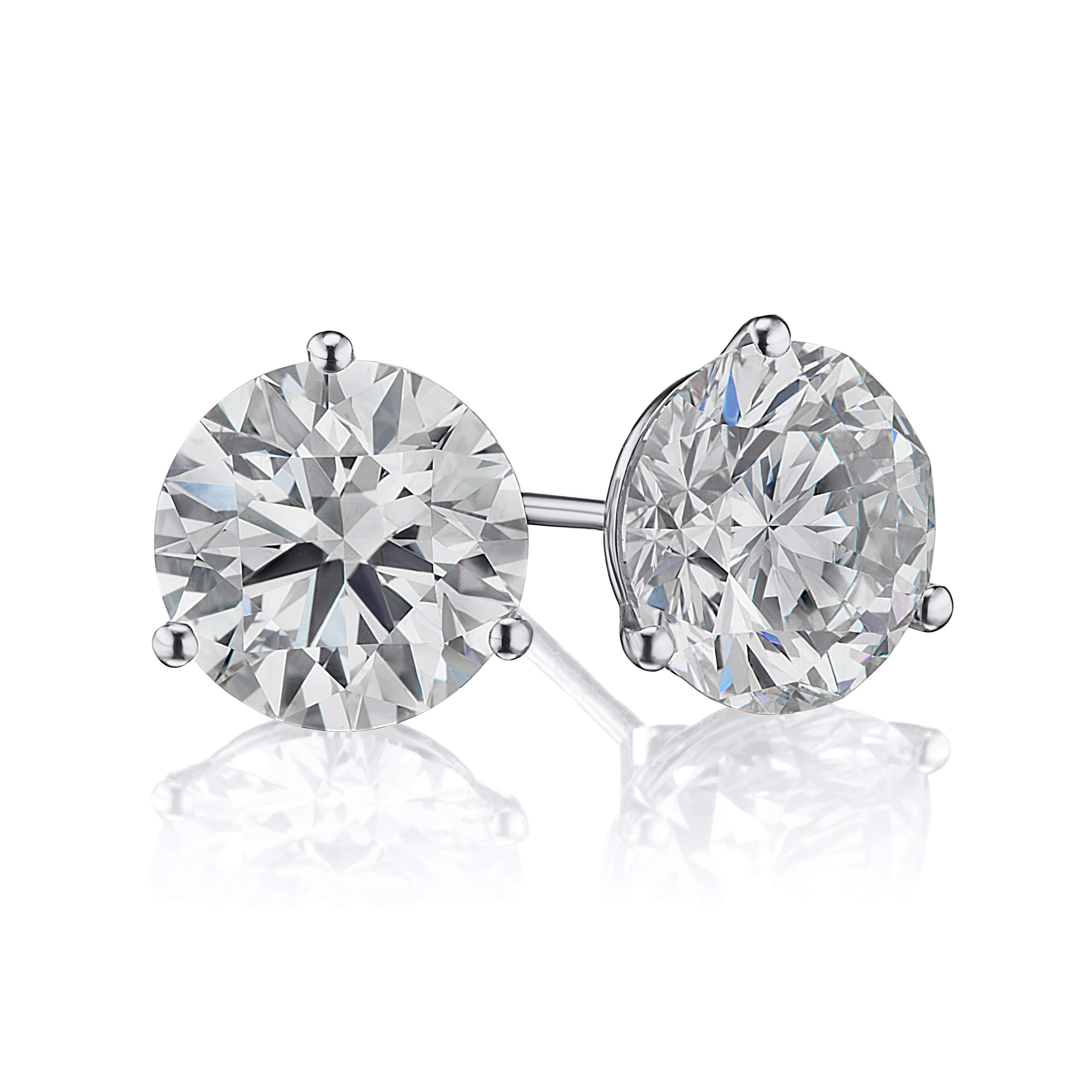 4.02ct. Diamond Stud Earrings