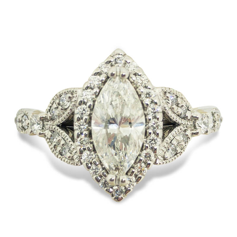 1.28ctw. Marquise Vintage Style Ring