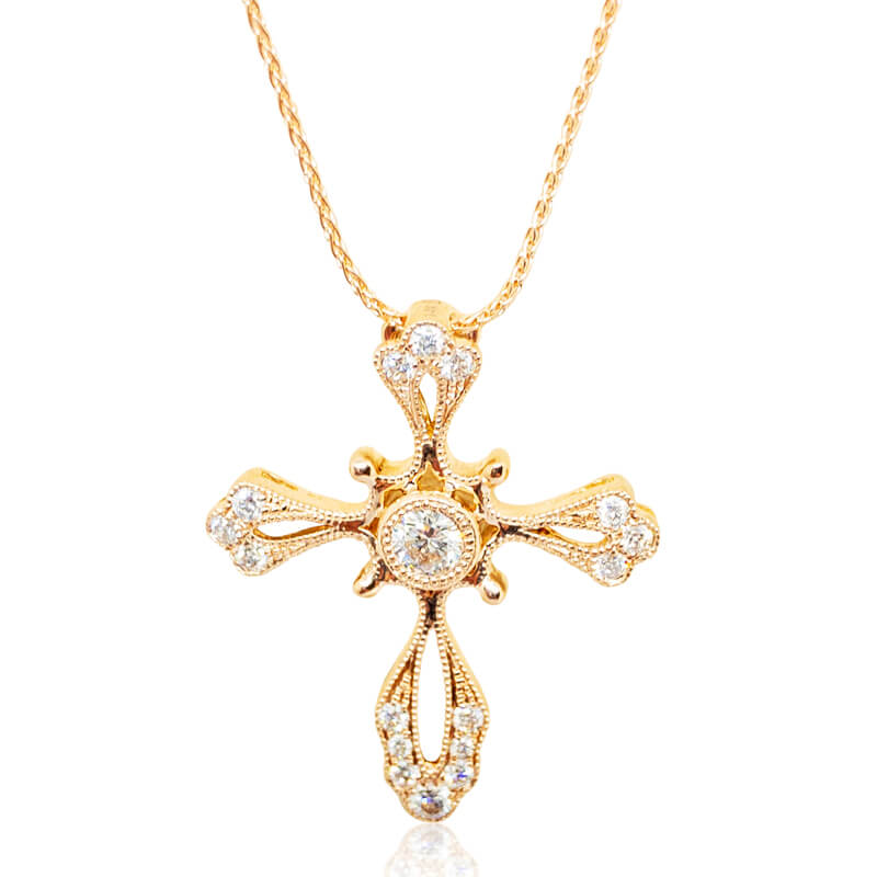 .34ct. Rose Diamond Cross