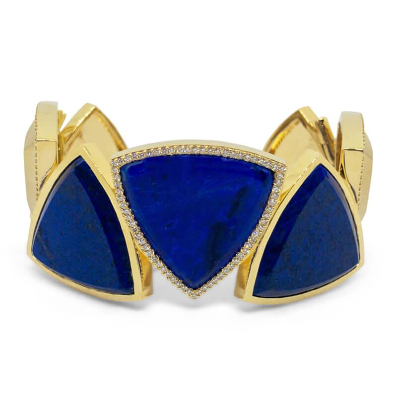 Custom Lapis Cuff Bracelet