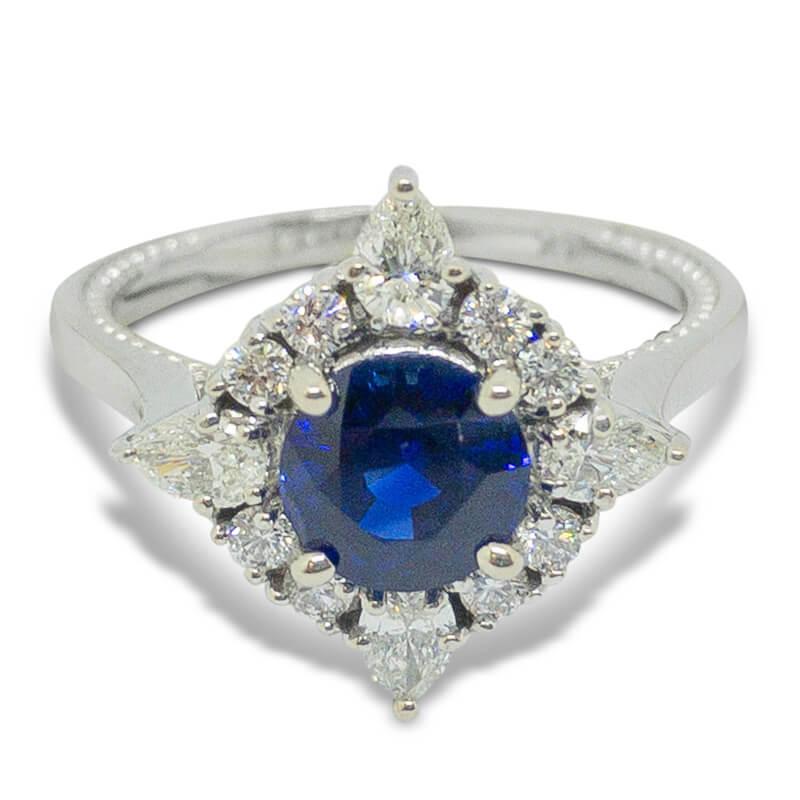 1.23ct. Sapphire & Diamond Ring