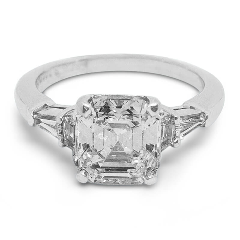 2.86ctw. Asscher Cut Ring