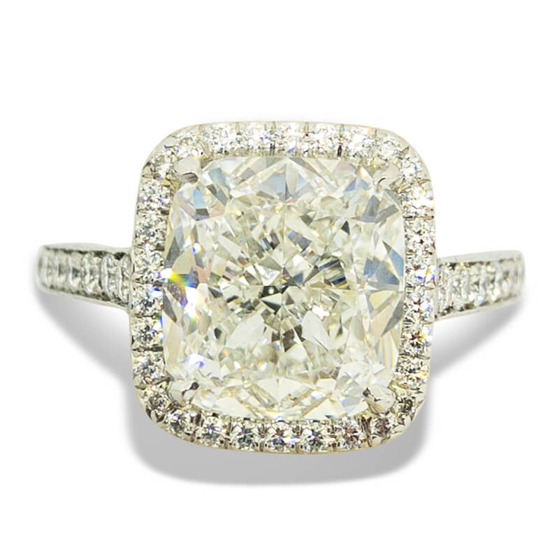 4.02ct. Cushion Cut Ring