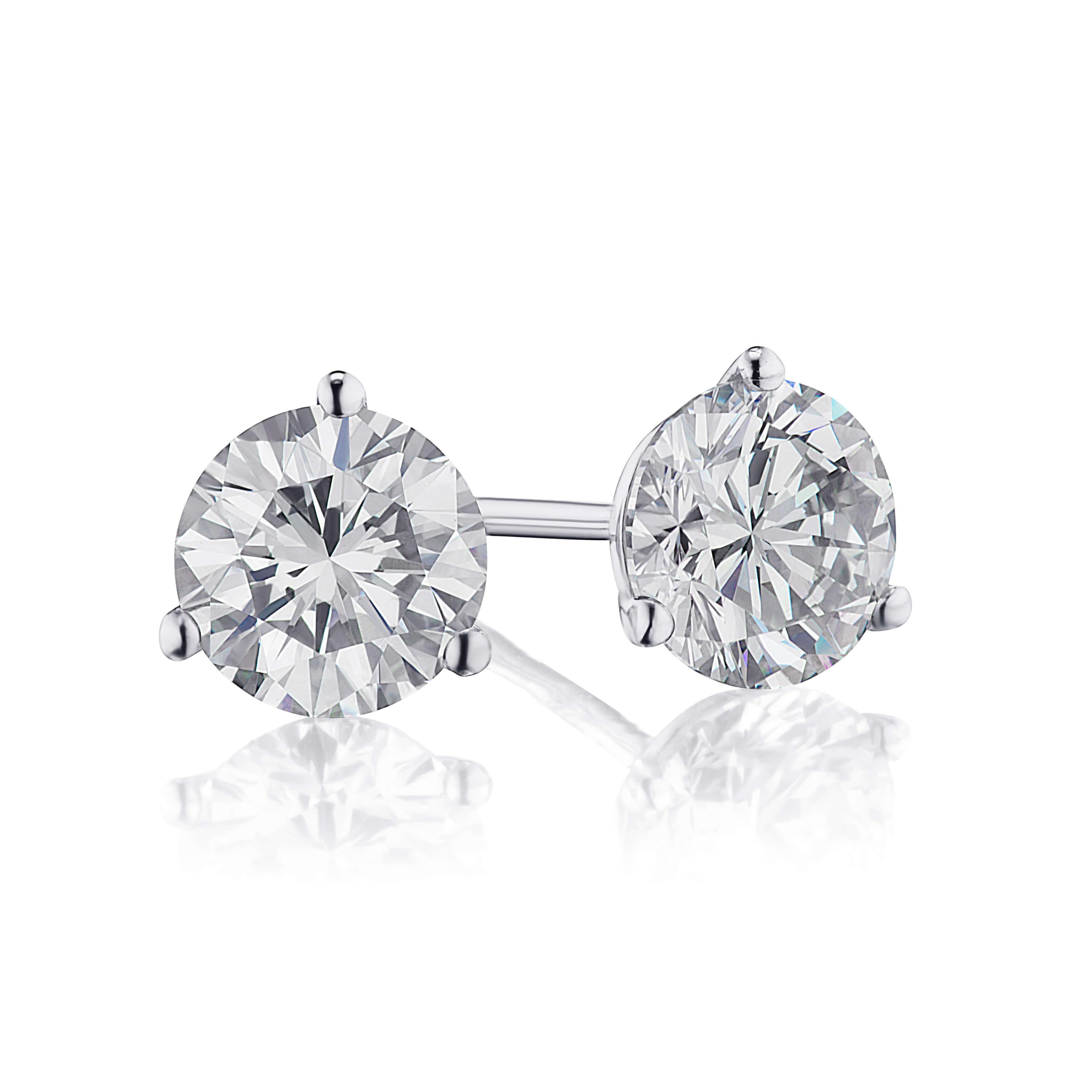 1.42ct. Diamond Stud Earrings