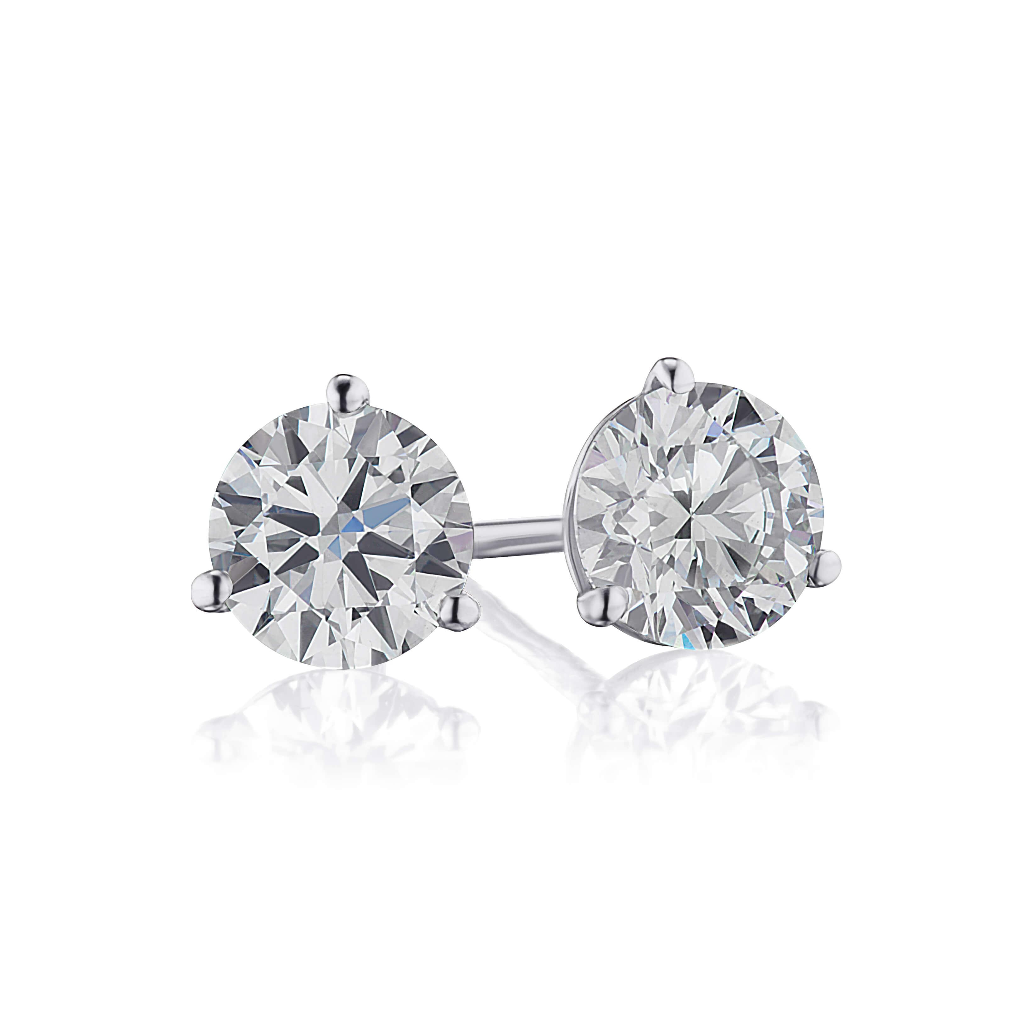 1.04ct. Diamond Stud Earrings