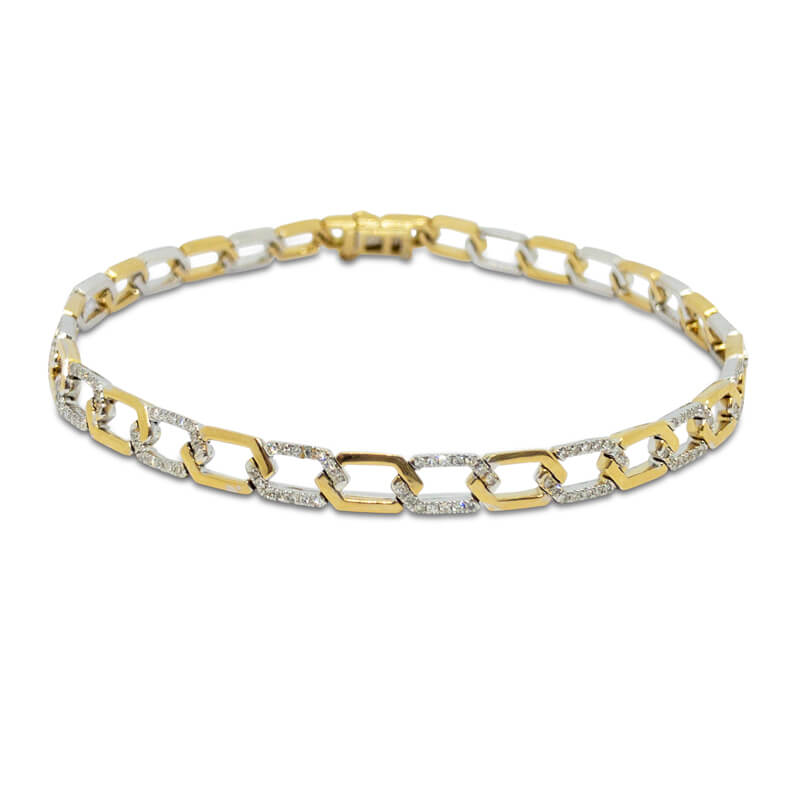 Two-Tone Diamond Bracelet