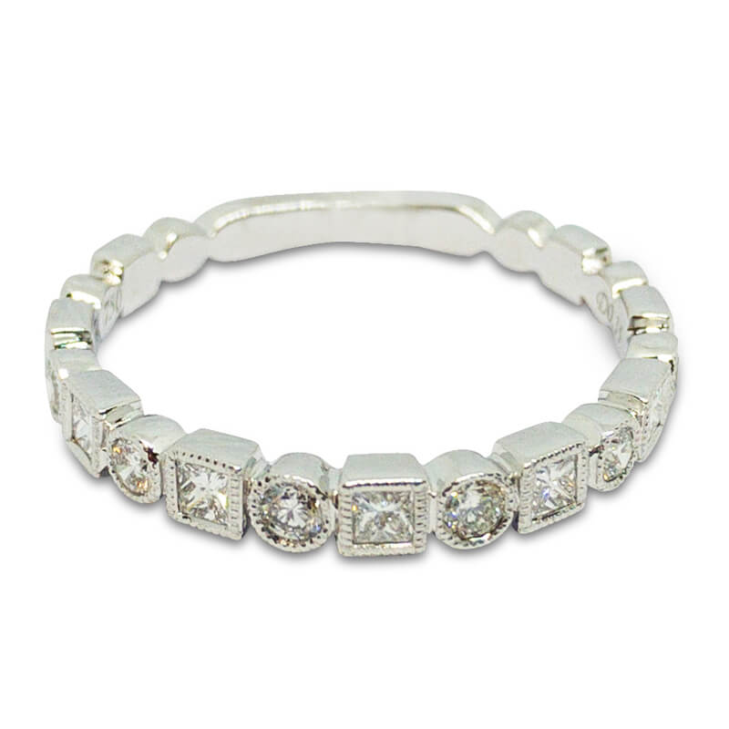 Square & Round Diamond Band