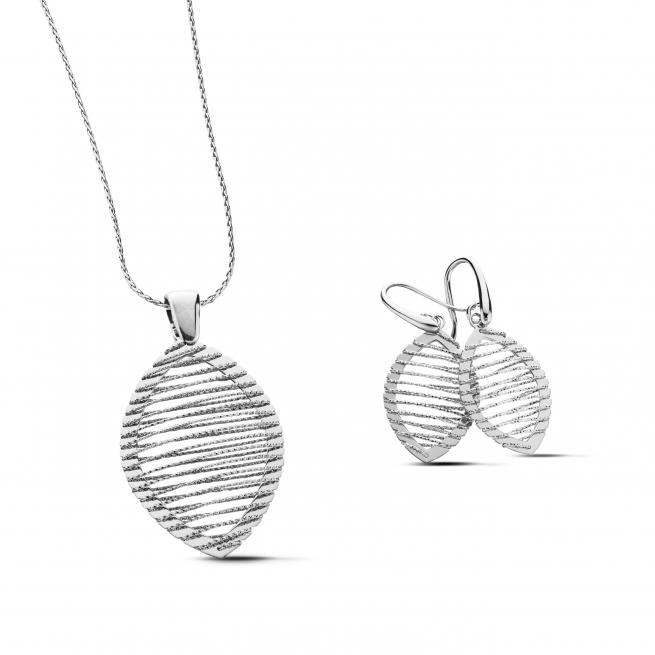 Sterling Silver Pendant & Necklace Set